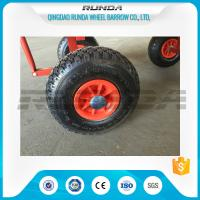 China Natural Rubber Inflatable Trolley Wheels PP Rim 16mm Axle Hole Centered Hub 3.00-4 wholesale