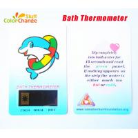 China Plastic Liquid Crystal Baby Bath Thermometer Card on sale