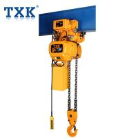 China Custom Color 1 Ton Single Phase Electric Chain Hoist For Construction wholesale