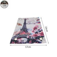 China Eiffel Tower Romantic Digital Printed Patches Art Work 23*17CM Size For Clothing wholesale