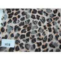 China Custom Digital Printed Stretch Sexy Leopard Lace Fabric By The Yard wholesale