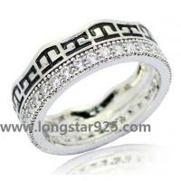 China 925 silver round circle full cz rings wholesale men's rings wholesale
