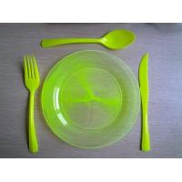 China colour plate and cutlery set wholesale
