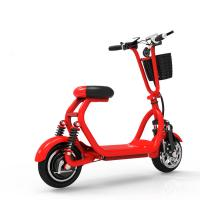 China 10 Inch Two Wheel Shock Absorption Electric Folding Mobility Scooter With Phone Holder wholesale