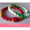mixed color power balance silicone bracelet wristband