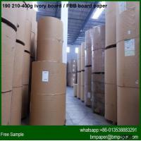 China Lowest price 250 300 350 400gsm coated paperboard in jumbo roll wholesale