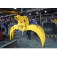 China Light Weight Wood Grapple Attachment / Timber Grapple Anti Clockwise wholesale