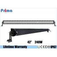 China Double Row Combo 42 Inch LED Car Light Bar High Bright 240W DC 9V - 32V wholesale
