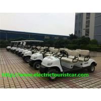 China Fuel Type White Street Legal Electric 4 Passenger Golf Cart 48V / 3KW With Basket on sale