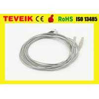 China Silver Plated Copper Electrode EEG Medical Cable 1 M Or Custom Length wholesale