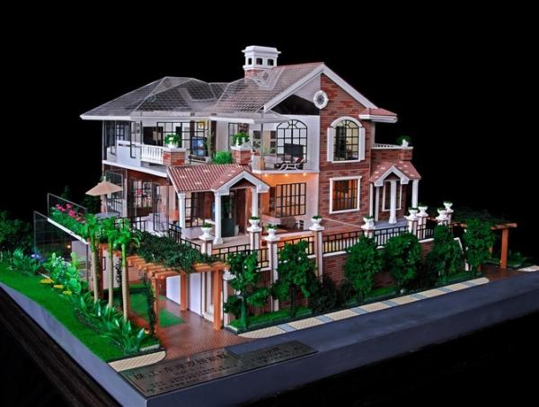 3d miniature architectural model maker villa building model