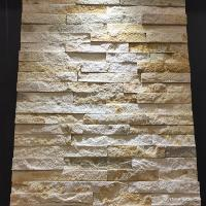 China Yellow Sandstone Mini Panel Cultured Stone , Natural Stone Ledger Panels wholesale
