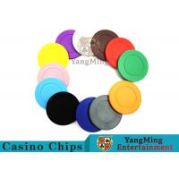 Roulette Dedicated Solid Color Plastic Poker Chips With Customized Print Logo for sale