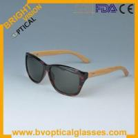 China 5118 acetate frame sunglasses with bamboo temple on sale