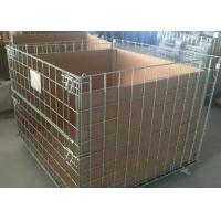 China Anti Corrosion Steel Wire Stackable Storage Cage 500-2000kg Capacity wholesale