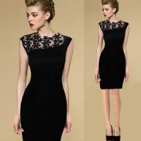 China New Sexy Casual Lace Sleeveless Party Evening Cocktail Short Fashion Women Dress on sale