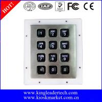 China Custom Industrial Numeric Keypad , 12 Plastic Keys Metal Keypad With Backlight wholesale