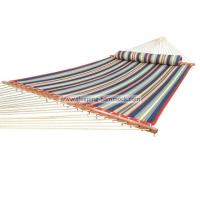 China Oversized Portable Beach Quilted Fabric Hammock W Stand With Detachable Pillow wholesale