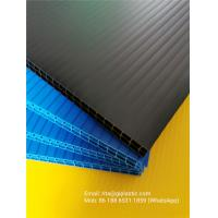 China 8mm and 10mm thick black/ blue/ green colors double layer PP corrugated plastic sheet for divider backing plate on sale