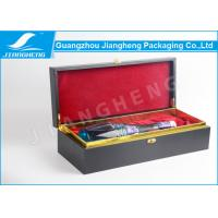 China MDF Wooden / Cardboard Single Wine Packing Boxes With Custom Logo Recycled wholesale