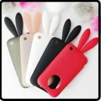 China Best apple Rabito iPhone 4G cell phone TPU silicone case with rabbit tail  on sale