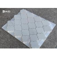 China Lantern Shape Carrara Polished Mosaic Floor Tile Sheets 7cm Length 10mm Thickness wholesale