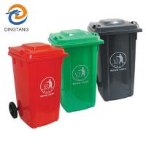 China 100LGarbage bin with 2 wheel in virgin plastic material garbage bin with wheels wholesale