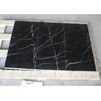 China Black Marquina Marble Floor And Wall Tiles , Nero Marquina Marble Tiles Non Slip on sale