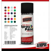 China Metal / Wood / Glass Acrylic Spray Paint Flexible With Strong Adhesive wholesale