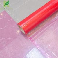 China 0.03-0.20mm Red Clear Adhesive Protective Plastic Film for Hard Surfaces wholesale