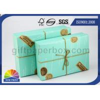 Custom Logo Printed Paper Boxes with Lids , Rectangle Hard Cover Decorative Box for Wedding Gift