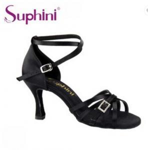 China Women Satin Suede Leather Sole Latin Dance Shoe 265 wholesale