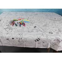 China Double Soft Biodegradable Disposable Paper Tablecloth For Children Drawing wholesale