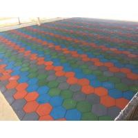 China Anti Skid Outdoor Rubber Mats , Shock Absorption 15-60mm Rubber Play Tiles on sale