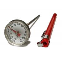 China Stainless Small Dial Pocket Milk Frothing Thermometer With Magnifying Lens wholesale