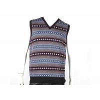 China V Neck Design Fall Mens Cable Knit Sweater Sleeveless Vest In Jacquard Pattern wholesale