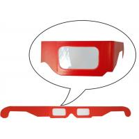 China Anaglyphic Paper 3D Glasses , Disposable Red 3d Monitor Glasses 400*37mm Size wholesale