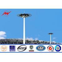 China 45M 80 Nos HPS Light High Mast Tower Pole 10mm Thickness  with Round Light Carriage on sale