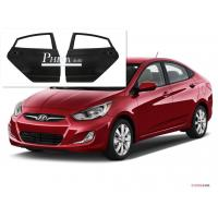 China Solid Rear Car Door Replacement  Hyundai Accent Parts Primer Coating Treatment 2012 wholesale