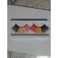 China Vogue color growing eyelash black red yellow three color glue free wholesale