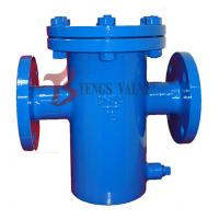 China Din Flanged Simplex Basket Strainer , Pn16 Fabricated Steel Bucket Type Strainer wholesale