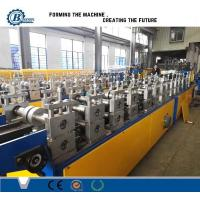 China Light Weight Truss Furring Channel Steel Roll Forming Machine With Non Stop Cutting wholesale