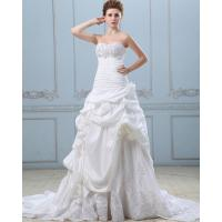 China Sweep Train Taffeta Bridal Empire Line Wedding Dresses Ball Gowns with Lace / Applique on sale