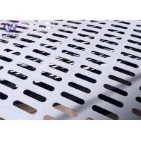 China Slotted Perforated Metal Mesh Zinc Coated Plain Weave Style 1.22x2.44m Size wholesale