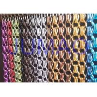 China Aluminium Metal Chain Link Curtains Insect Fly Door Blinds Screen Pest Control wholesale