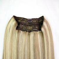 China Highlighted Color Clip In Hair Extensions Remy Human Hair With Silky Straight on sale