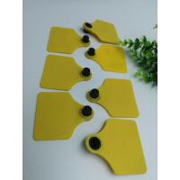 TPU Material Visual RFID Livestock Tags Two Sides Shape Barcode Animal Ear Tag For Cattle