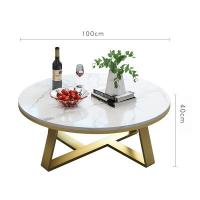 China Custom Made Nordic Marble Modern Simple Living Room Round Size Tea Table wholesale