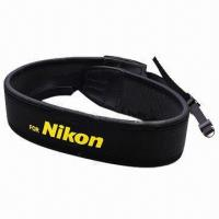 China Neck Strap for Nikon DSLR Camera, Made of Soft Woven Nylon/Neoprene Padding, with Anti-slip Weave wholesale