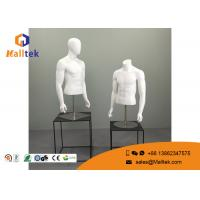 China Fiberglass Retail Shop Fittings Upper Body Male Torso Mannequin Metal Base wholesale